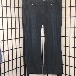 GAP Curvy Jeans Dark wash Button flap rear pockets